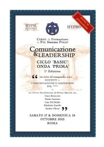 comunicazione & leadership, onda prima, 1° ed